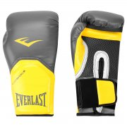 Luva Boxe Everlast Pro Style Elite Training 16 oz Cinza