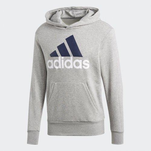 bf38ba409 Blusa Moletom Adidas Essentials Linear Com Capuz Cinza