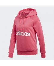 Blusa Moletom Adidas Essentials Linear Over Head c/ Capuz Pink