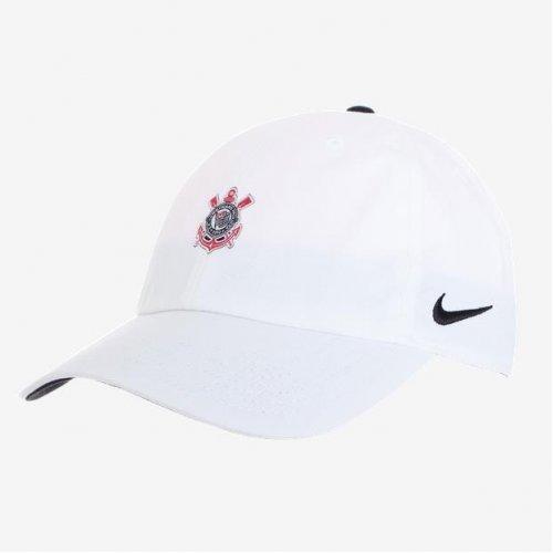 e73ef84aef038 Bone Corinthians Nike Aba Curva Branco