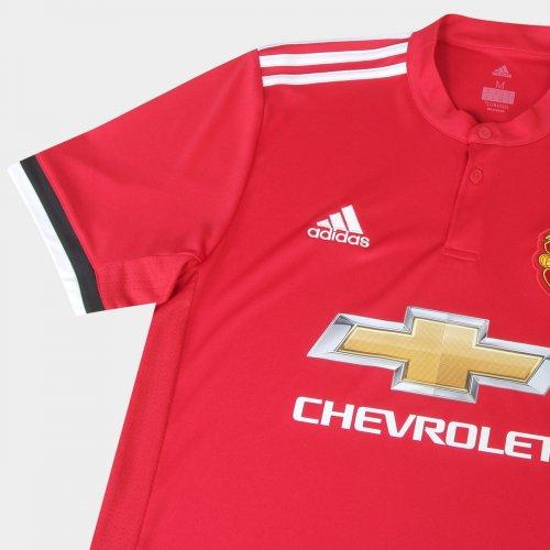 Camisa Adidas Manchester United Infantil Home 2017 18 89e2e49882f67