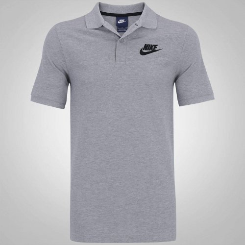 Camisa Polo Piquet Nike Nsw Matchup Cinza db56f4f8773ce