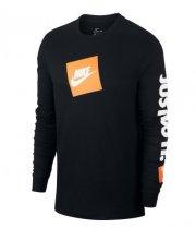 Camisa Nike Sportwear Just Do It Manga Longa Preta