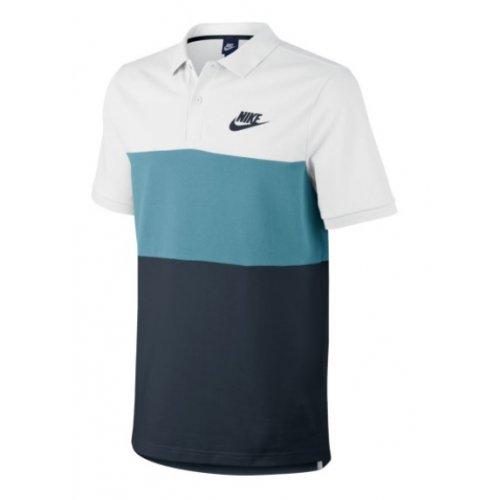 d56dc47d0 Camisa Polo Piquet Nike NSW Matchup Branco/Azul
