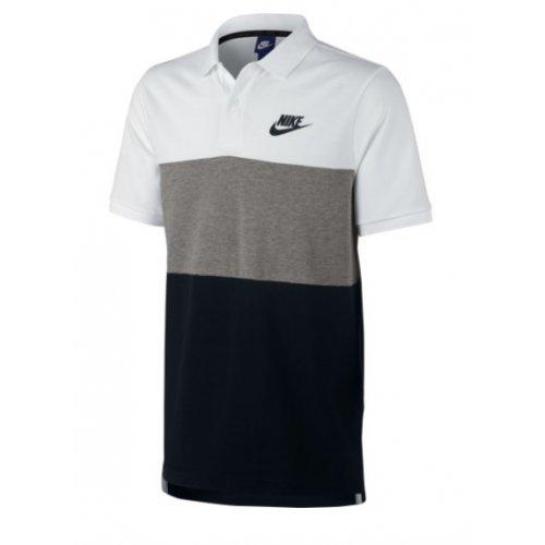 de623352b4 Camisa Polo Piquet Nike Nsw Matchup Branco Preto