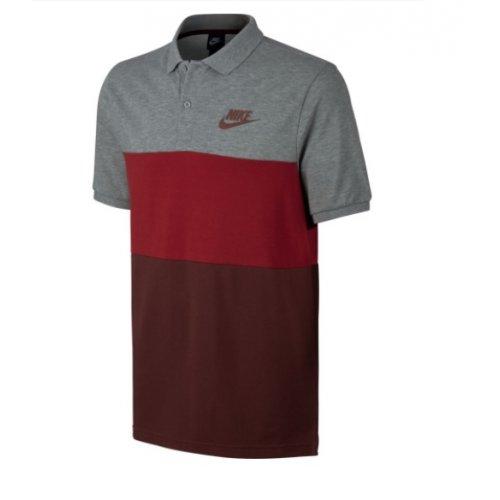 5ed0ff6a0 Camisa Polo Piquet Nike NSW Matchup Cinza/Bordo