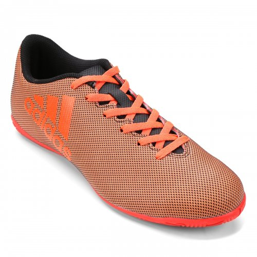 Chuteira Futsal Infantil Adidas X 17 4 In Laranja 13cd21d268d4c