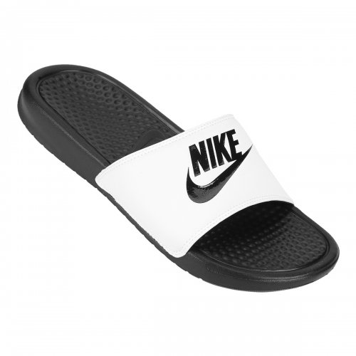 ae84c426847 Sandalia Nike Benassi Jdi Preto Branco